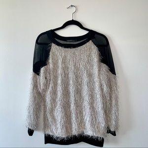 Mesh Fringe Sweatshirt